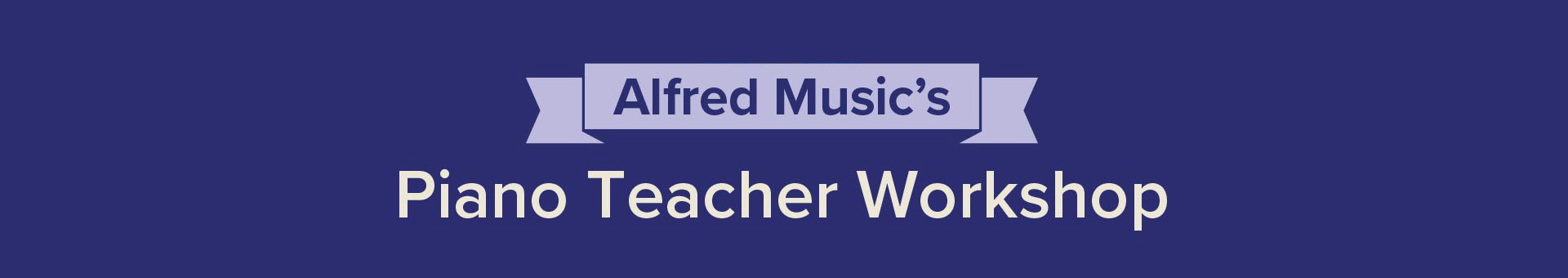 Alfred Music's Piano Teacher Workshop