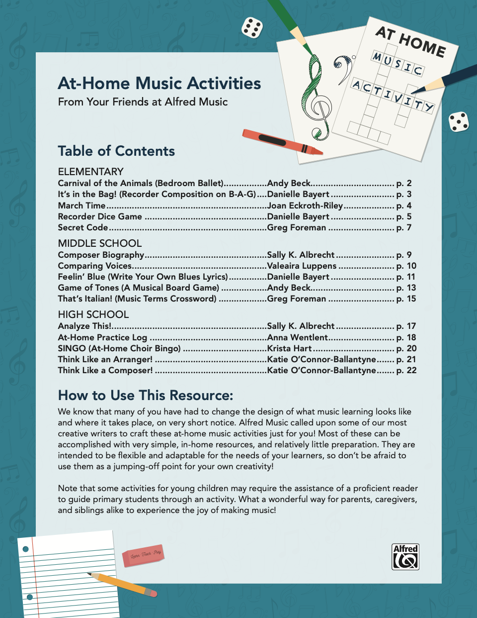 At-Home Activities Image
