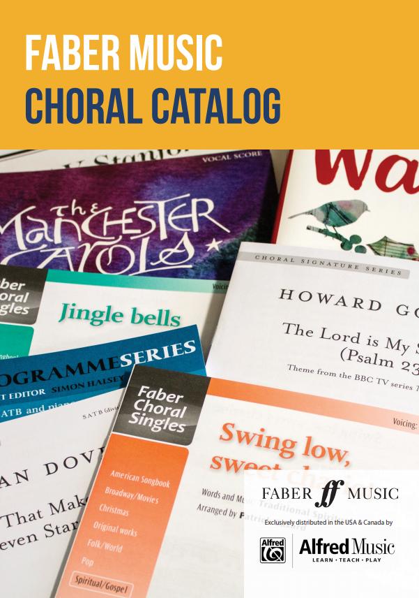 Faber Choral Catalog