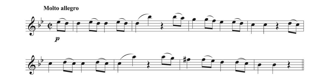 Mozart's Symphony No. 4 in G Minor sample