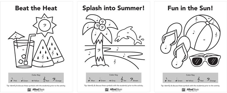 Channel Summer Excitement With 3 Free Coloring Pages