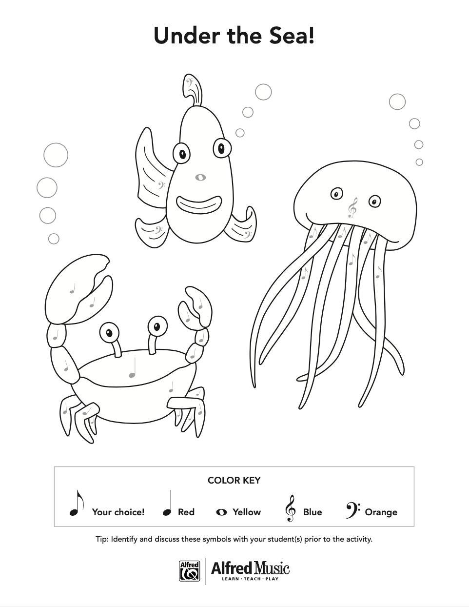 Coloring page of sea animals Royalty Free Vector Image | 1244x962