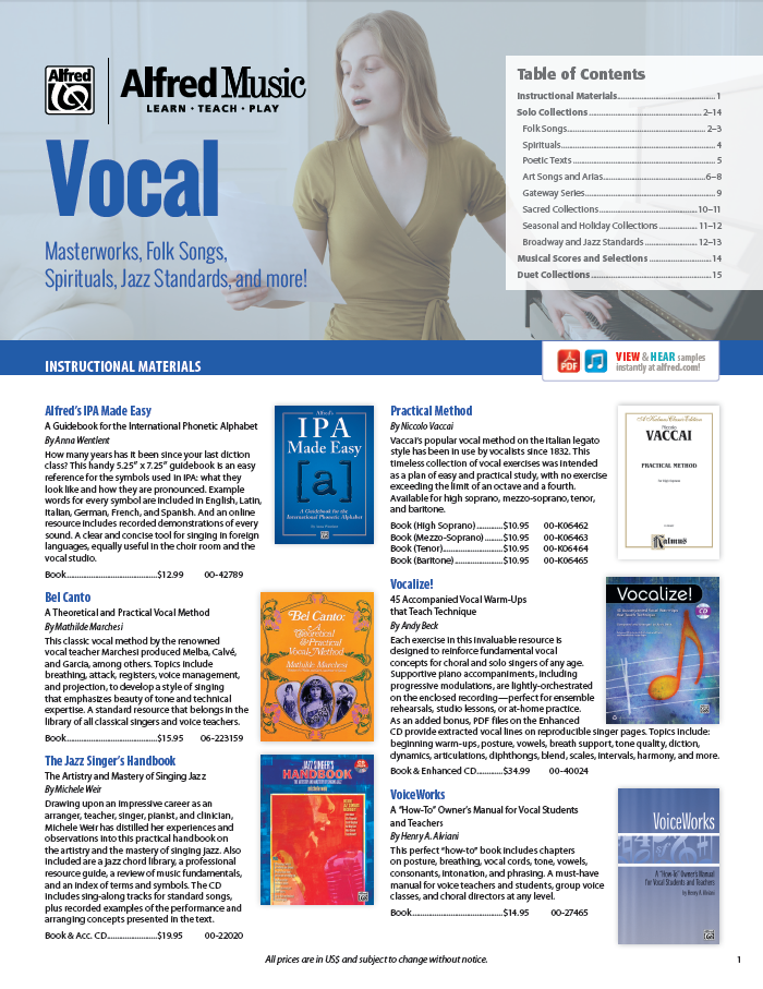 Vocal Catalog