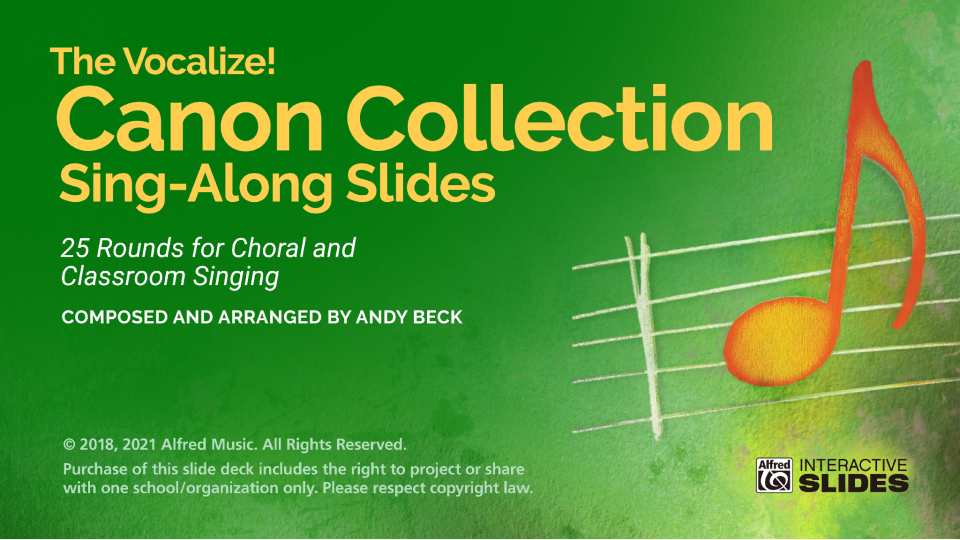 The Vocalize! Canon Collection Sing-Along Slides