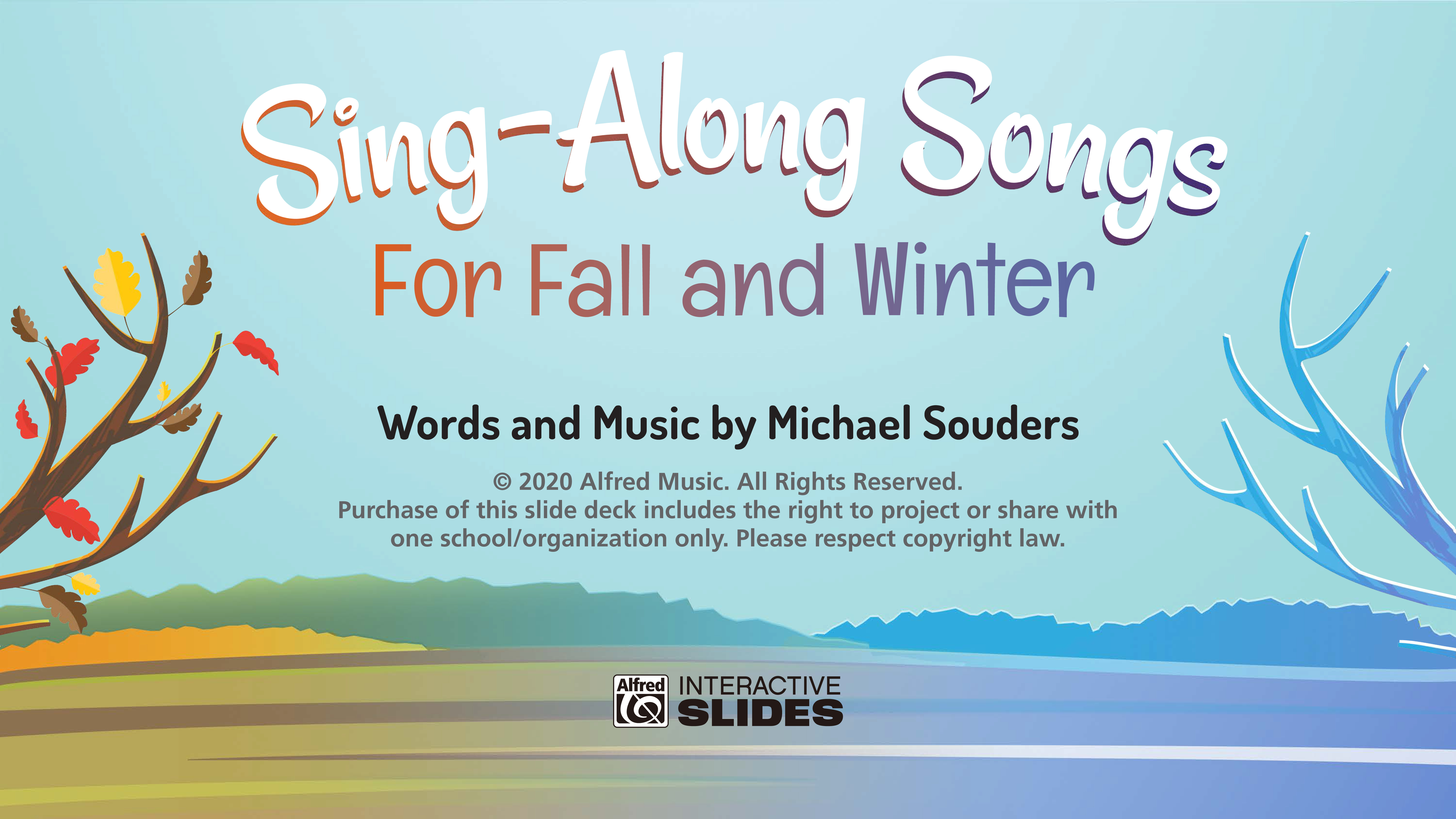 Sing-Along Slides for Fall and Winter