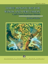Three Miniatures for Winds and Percussion - Concert Band