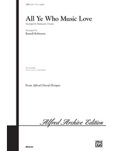 All Ye Who Music Love - Choral