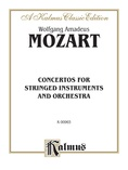 Mozart: Concertos for Stringed Instruments and Orchestra - Orchestral Scores
