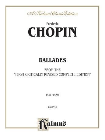 Chopin: Ballades (Ed. Franz Liszt) - Piano