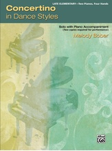Concertino in Dance Styles: Solo with Piano Accompaniment - Piano Duo (2 Pianos, 4 Hands) - Piano Duets & Four Hands