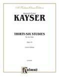 Kayser: Thirty-Six Studies, Op. 43 - String Instruments