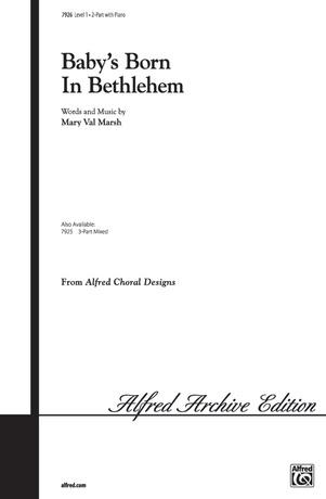 Baby's Born in Bethlehem - Choral