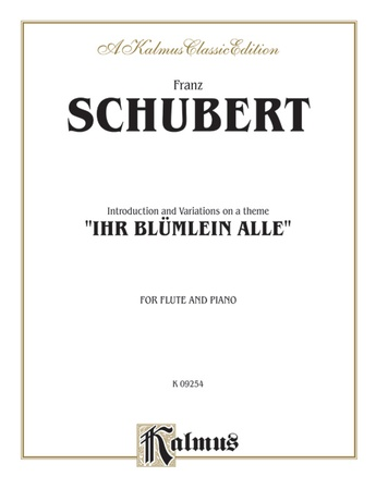 """Schubert: Introduction and Variations on a Theme """"Ihr Blümlein Alle"""" - Woodwinds"""