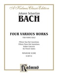 Bach: Two- and Three-Part Inventions, French Suites and Italian Concerto (Miniature Score) - Piano