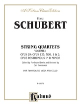 String Quartets, Volume I: Op. 29; Op. 125, Nos. 1 & 2; Op. Posth. in D Minor - String Quartet