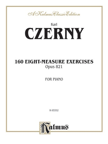 Czerny: 160 Eight-Measure Exercises, 821 - Piano