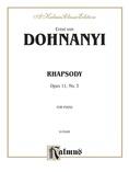 Dohnányi: Rhapsody, Op. 11, No. 3 - Piano
