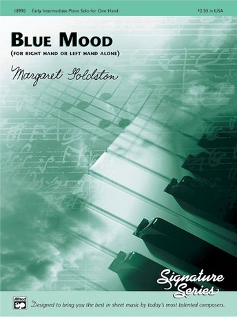 Blue Mood (for right hand or left hand alone) - Piano Solo - Piano