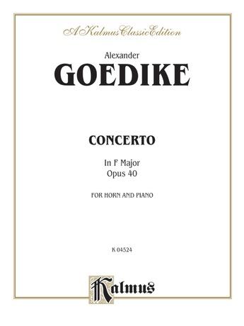 Goedicke: Concerto in F Major, Op. 40 - Brass