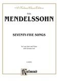 Mendelssohn: 79 Songs, Low Voice (German) - Voice