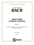 Bach: Soprano Arias from Church Cantatas, Volume I (Sacred) (German/English) - Voice