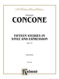 Concone: Fifteen Studies in Style and Expression, Op. 25 - Piano