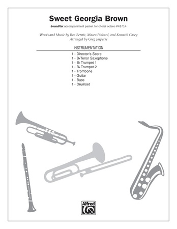 Sweet Georgia Brown Trombone Ben Bernie Choral Pax Sheet Music