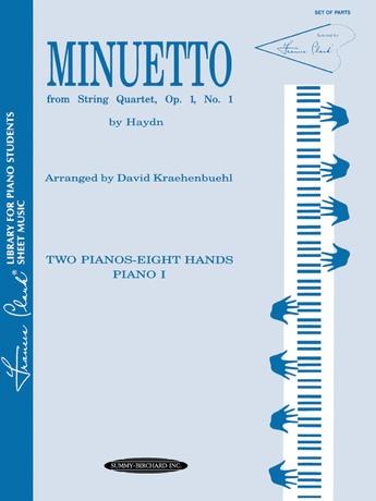 Minuetto from String Quartet, Opus 1, No. 1 - Piano Quartet (2 Pianos, 8 Hands) - Piano