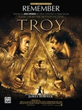 Remember (from Troy) - Piano/Vocal/Chords