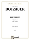 Dotzauer: 113 Studies, Volume II (Nos. 35-62) - String Instruments