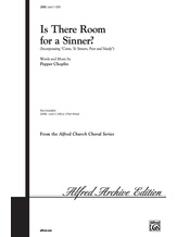 Is There Room for a Sinner? - Choral