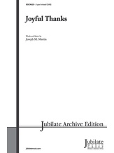 Joyful Thanks - Choral
