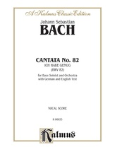 Bach: Bass Solo, Cantata No. 82, Ich Habe Genug (German/English) - Voice