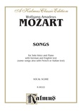 Mozart: 39 Songs for Medium High Voice (German/English/French/Italian) - Voice