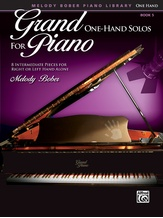 Grand One-Hand Solos for Piano, Book 5: 8 Intermediate Pieces for Right or Left Hand Alone - Piano