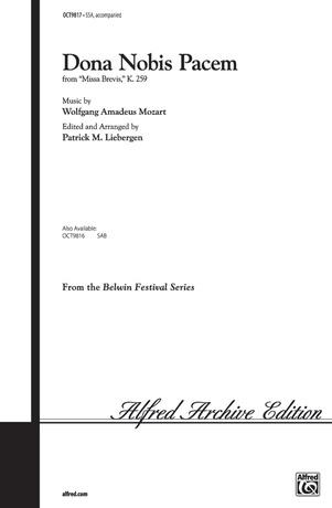 Dona Nobis Pacem (from <I>Missa Brevis,</I> K. 259) - Choral