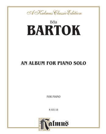 Bartók: Album for Piano - Piano