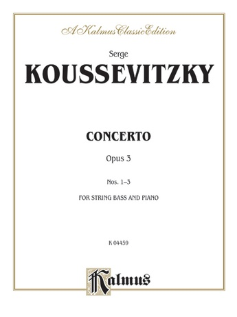 Koussevitzky: Concerto, Op. 3 - String Instruments