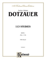 Dotzauer: 113 Studies, Volume I (Nos. 1-34) - String Instruments