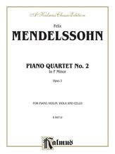 Mendelssohn: Piano Quartet No. 2 in F Minor, Op. 2 - Mixed Ensembles