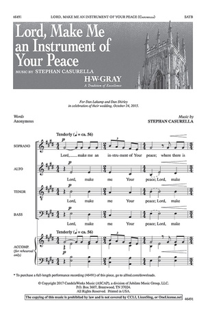 Lord, Make Me an Instrument of Your Peace - Choral