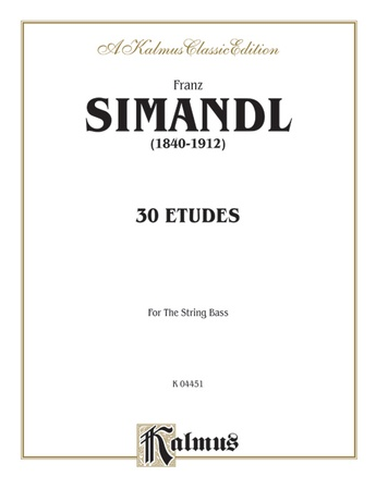 Simandl: Thirty Etudes for Double Bass - String Instruments