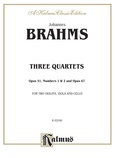 Brahms: Three String Quartets, Op. 51, Nos. 1 & 2, Op. 67 - String Quartet
