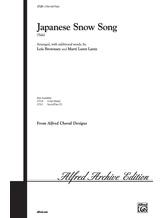 Japanese Snow Song (Yuki) - Choral