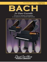 Bach for Piano Ensemble, Level 4 - Piano Quartet (2 Pianos, 8 Hands) - Piano