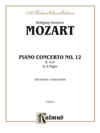Mozart: Piano Concerto No. 12 in A Major, K. 414 - Piano Duets & Four Hands