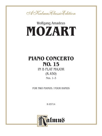 Mozart: Piano Concerto No. 15 in B flat Major, K. 450 - Piano Duets & Four Hands