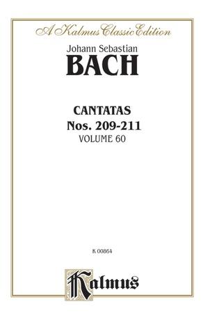 Bach: Cantatas Nos. 209-211, Volume 60 - Voice