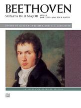 Beethoven: Sonata in D Major, Opus 6 - Piano Duet (1 Piano, 4 Hands) - Piano Duets & Four Hands