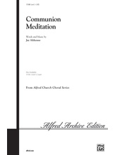 Communion Meditation - Choral